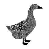 Duck la siluetta Fotografie Stock Libere da Diritti