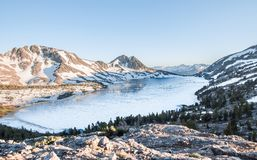 Duck Lake at Duck pass. Is an excellent hike near Mammoth Lakes California Stock Photography