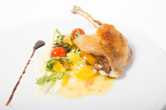 Duck leg confit Royalty Free Stock Images