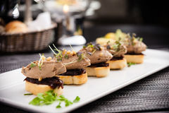 Duck liver patee Royalty Free Stock Photos
