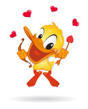 Duck in Love illustration Duck in Love illustrati Royalty Free Stock Photography