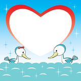 Duck love vector Royalty Free Stock Image