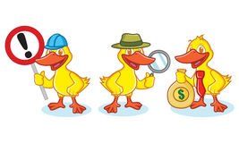 Duck Mascot Vector with sign Royalty Free Stock Photo