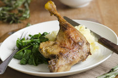 Duck with mashed potatoes Stock Photos