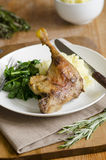 Duck with mashed potatoes Royalty Free Stock Images