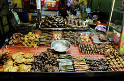 Duck Meat. A must try food in Night Market of Taiwan. Consist of duck meat, intestines, liver, tendons, duck tongue, neck, cake and other part stock images