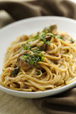 Duck meat pasta Royalty Free Stock Photos