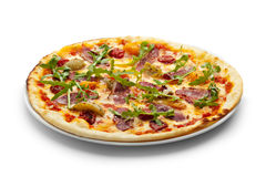 Duck Meat Pizza Stock Images