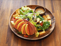 Duck meat salad royalty free stock images