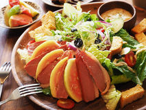 Duck meat salad Stock Photo