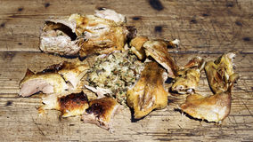 Duck Meat On Wooden Table rôti photo stock