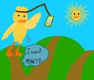Duck need money royalty free illustration