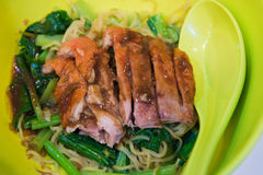 Duck noodle. Asia royalty free stock photo