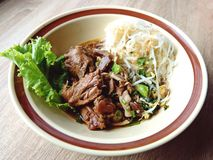Duck noodle in bowl chinese. Duck noodle in bowl eat food royalty free stock photography