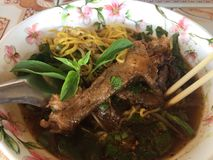 Duck noodle. Thailand food travel stock images