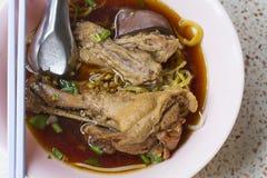Duck noodle soup Stock Image
