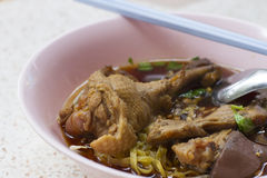 Duck noodle soup Royalty Free Stock Images