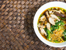 Duck noodle soup, Asia food Stock Image