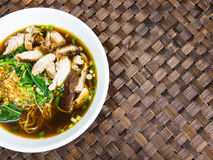 Duck noodle soup, Asia food Royalty Free Stock Images