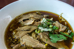 Duck noodle in soup Royalty Free Stock Photos