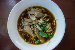 Duck noodle in soup Royalty Free Stock Photo