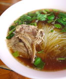 Duck noodle soup Stock Photography