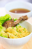 Duck noodle soup. Royalty Free Stock Image