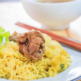 Duck noodle soup. Stock Photos