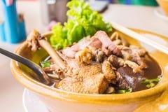 Duck noodle soup Stock Images