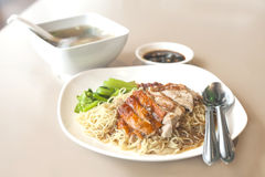 Duck noodle soup Royalty Free Stock Photo