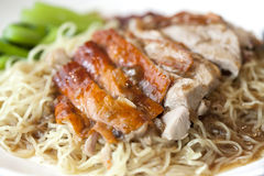 Duck noodle soup Royalty Free Stock Image