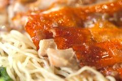 Duck noodle soup Stock Photo