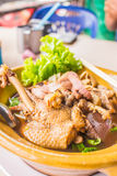 Duck noodle soup of Thailand. Royalty Free Stock Photo