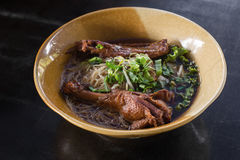 Duck noodle stock photos