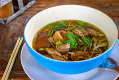 Duck noodle. Thai food roast duck noodle royalty free stock photos