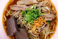 Duck noodle Royalty Free Stock Photo
