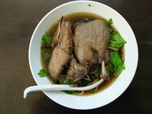 Duck noodles Stock Photo