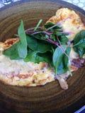 Duck Omelette med spenat Royaltyfria Foton