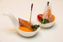 Duck in orange sauce Stock Images