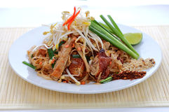 Duck pad thai Stock Image
