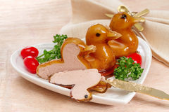 Duck pate Stock Images