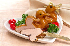 Duck pate Stock Photo