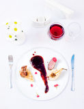 Duck With Pear and Blackberry Sauce Stock Photography