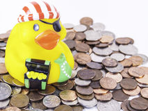 Duck Pirate en caoutchouc Photos libres de droits