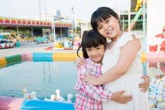 Duck pool hug Stock Photography