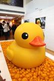 Duck Project di gomma in Hong Kong Fotografie Stock Libere da Diritti