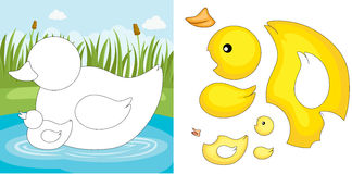 Duck puzzle. A vector illustration of a duck puzzle Stock Images