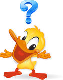 Duck - question illustration Royalty Free Stock Photography