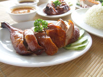 Duck Rice Set Stock Photo