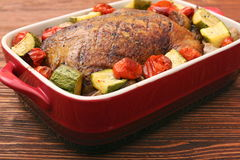 Duck roast with baked vegetables Royalty Free Stock Photography
